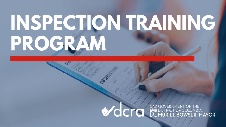 Inspection Training Program Dcra