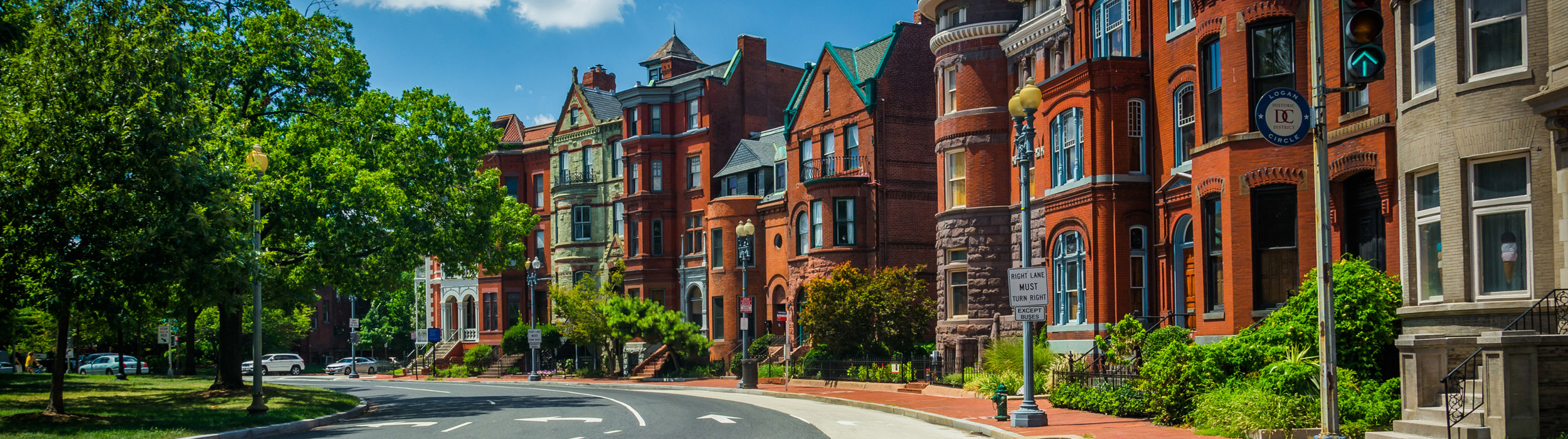 Houses along Logan Circle