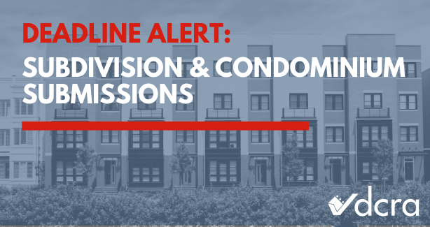 Subdivision & Condominium Submission Deadline