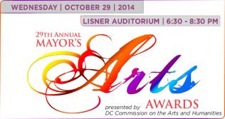 Image reading Mayor's Arts Awards in decorative script