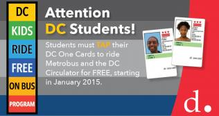 DC Kids Ride Free on Bus Program